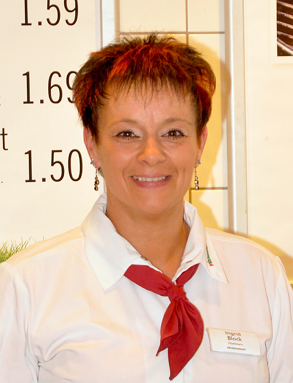 Filialleiterin Ingrid Block