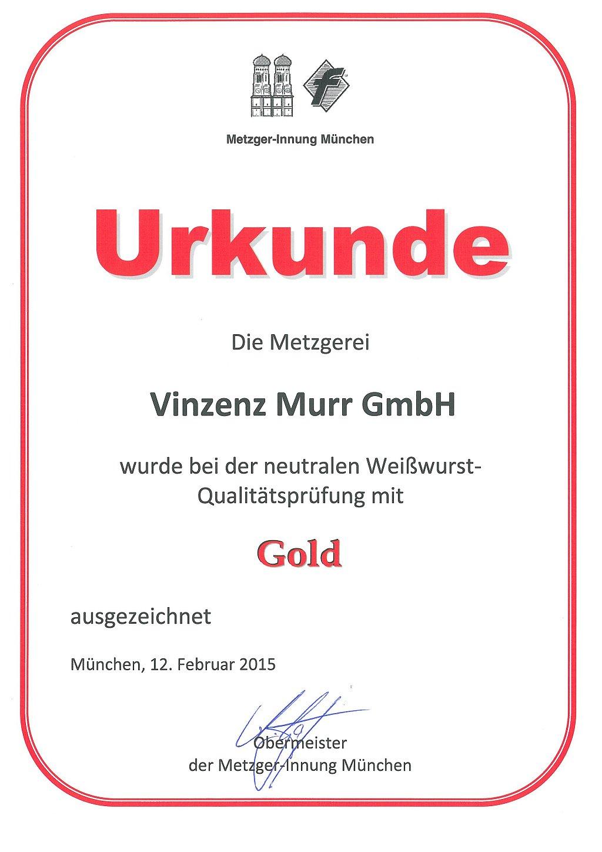 Metzger-Innung Weißwurst-Qualitätsprüfung 2015